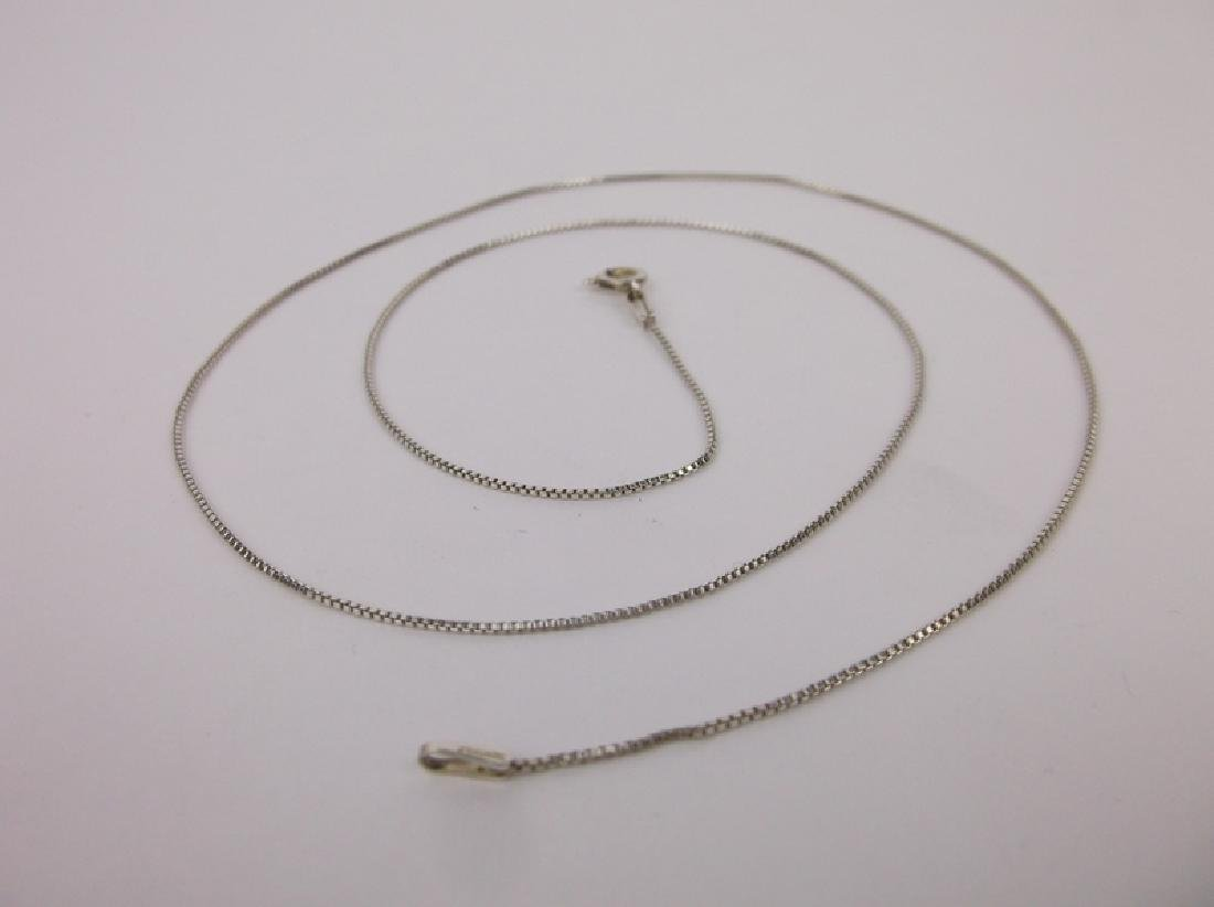 New Sterling Silver Chain Necklace 19""
