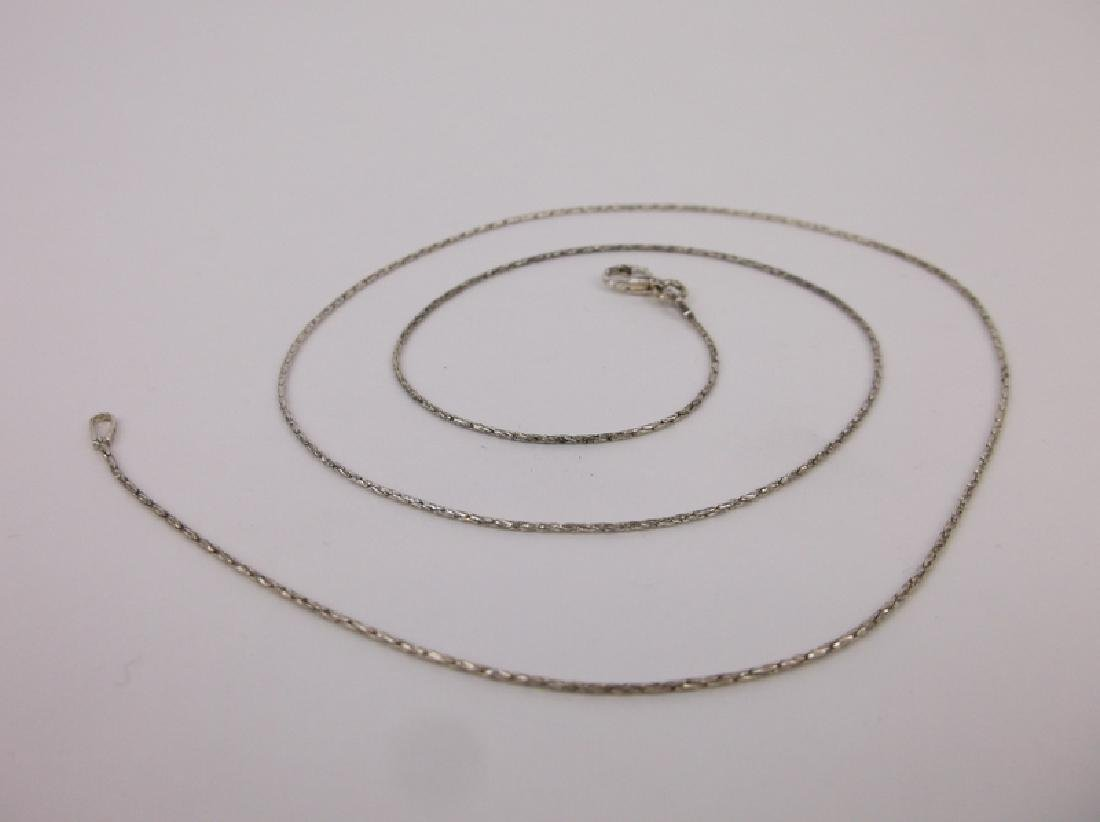New Sterling Silver Chain Necklace 20""