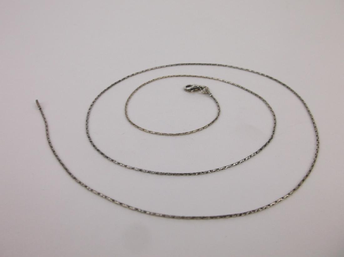 New Sterling Silver Chain Necklace 22""