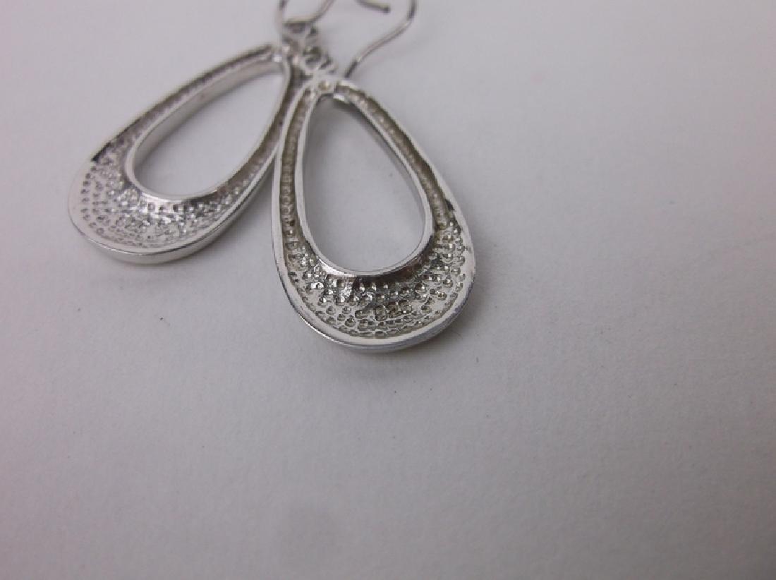 Gorgeous Sterling Silver Teardrop Earrings - 2