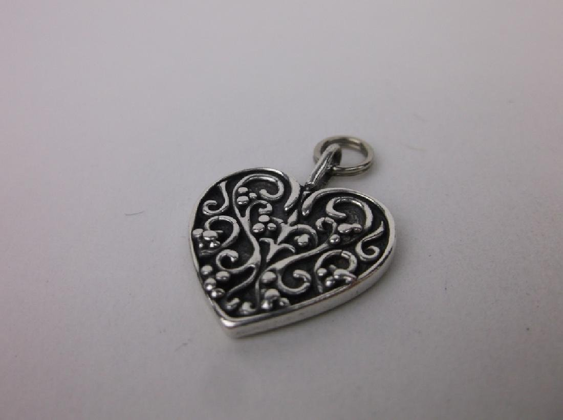Gorgeous Thick Sterling Silver Heart Pendant