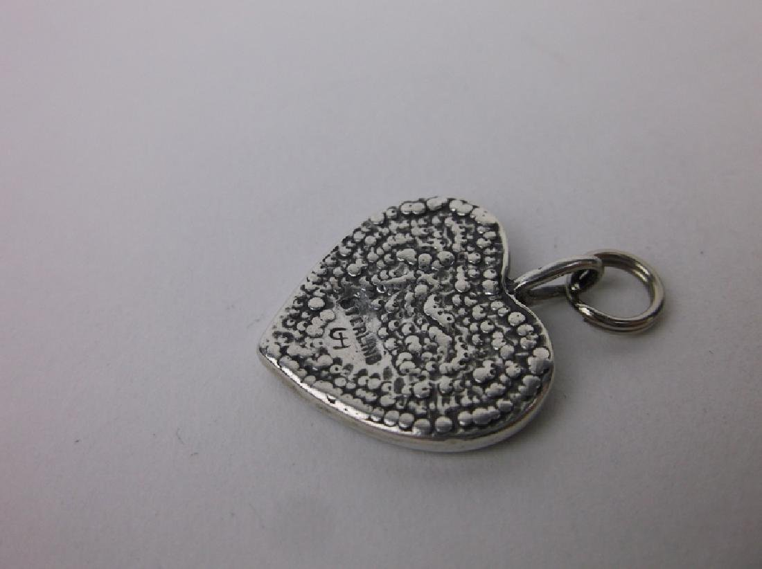 Gorgeous Thick Sterling Silver Heart Pendant - 2