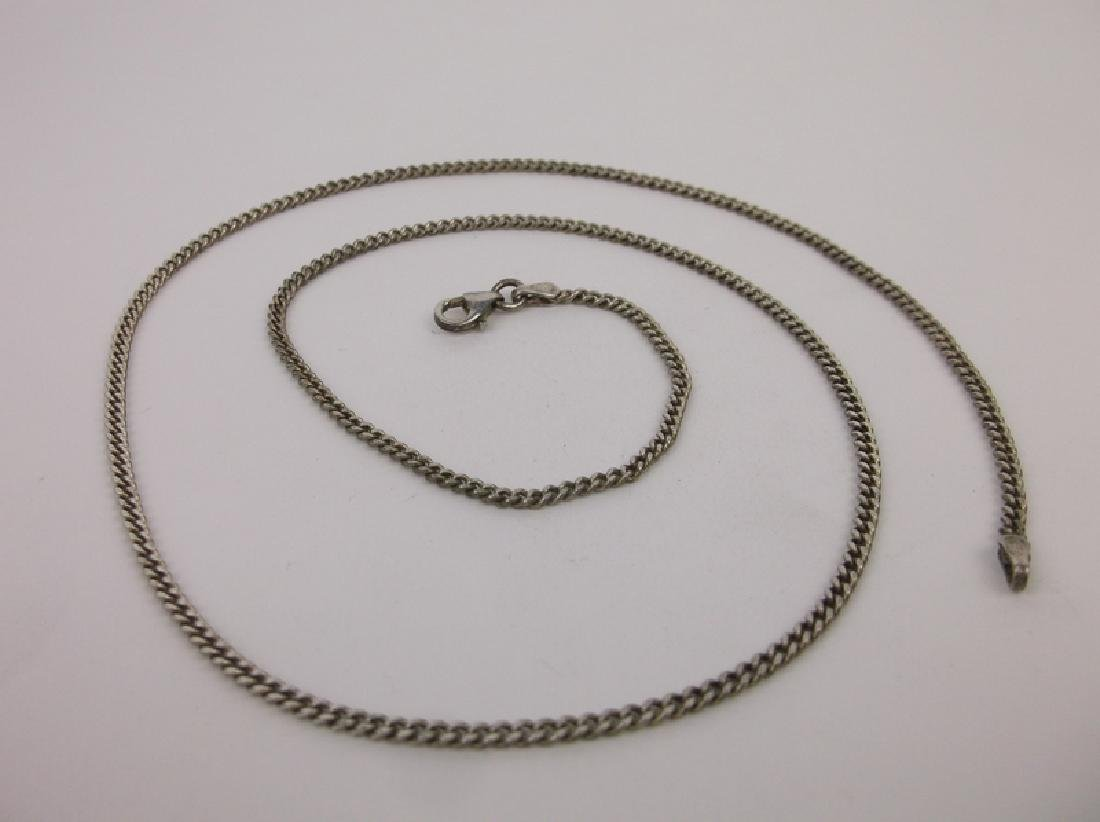 """Beautiful Sterling Silver Chain Necklace 20"""" Thick"""