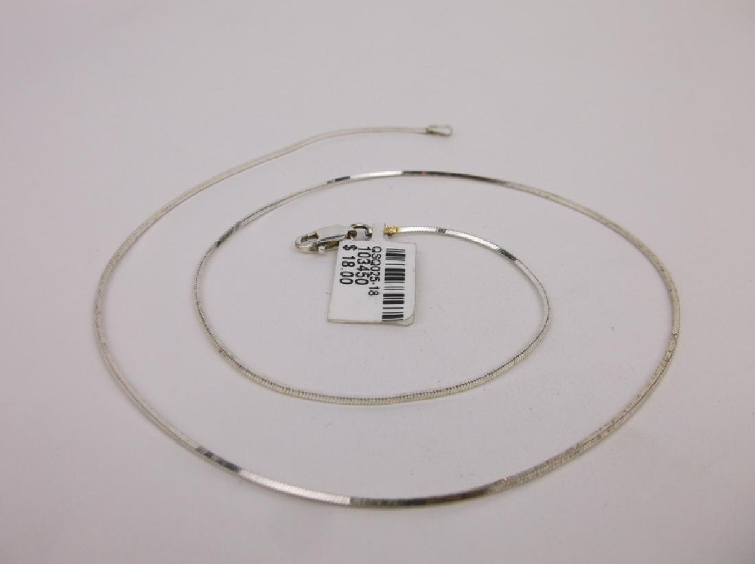 New Sterling Silver Chain Necklace 18""