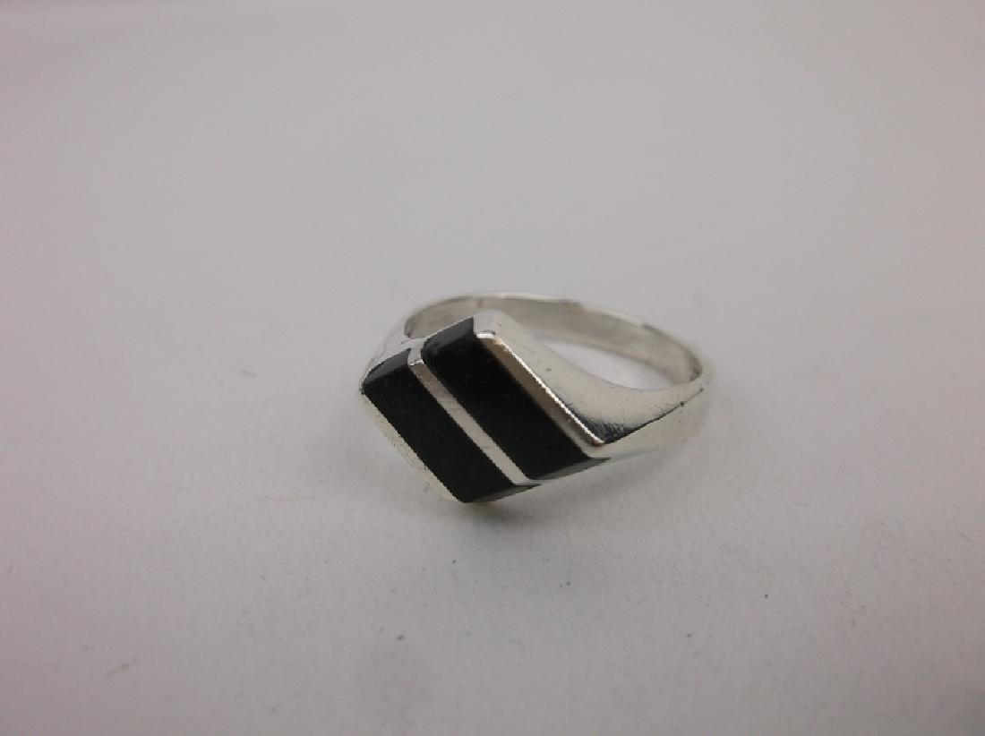 Gorg Taxco Sterling Silver Onyx Ring 8.5 TM-166