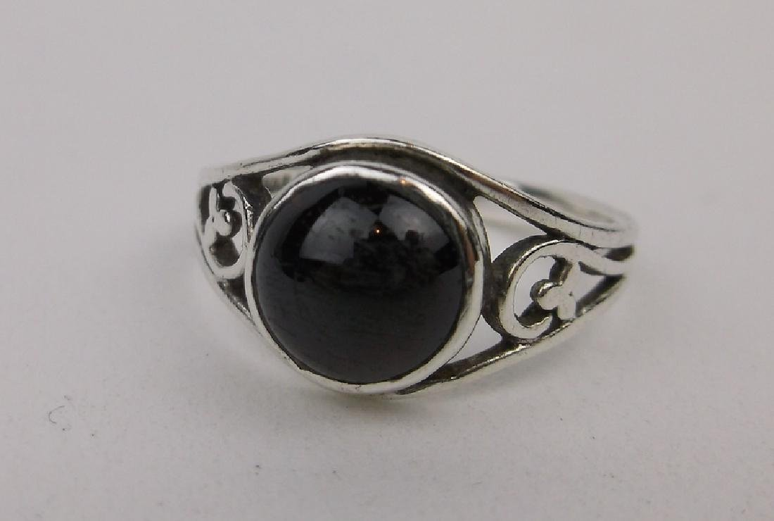 Gorgeous Sterling Silver Amber Ring 6