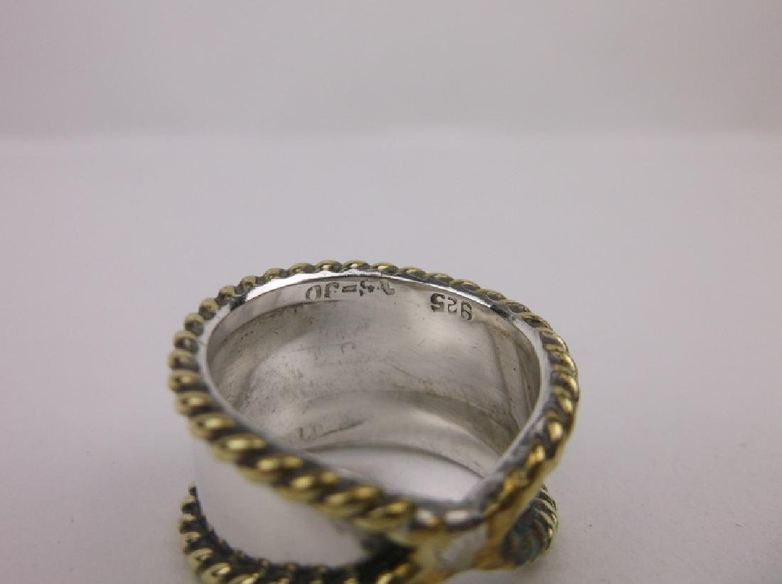 Gorgeous Taxco Sterling Silver Ring 8 TS-30 - 2