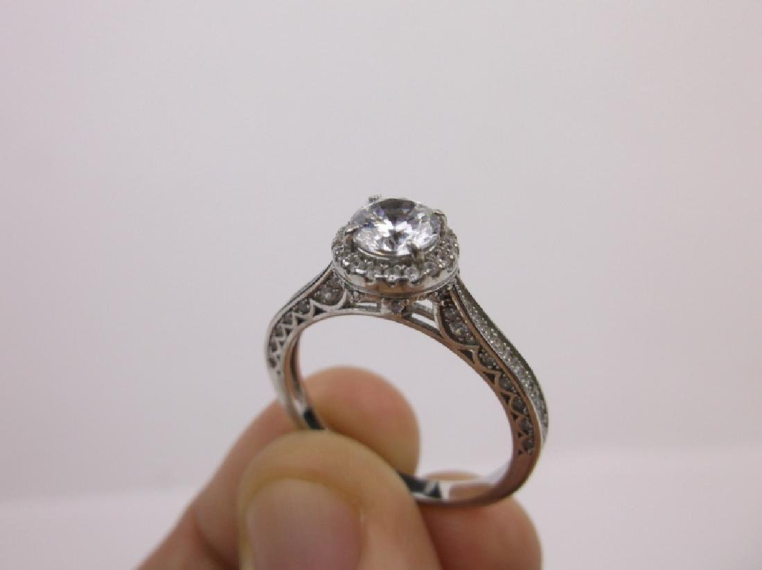 Stunning Sterling Silver Engagement Ring 11