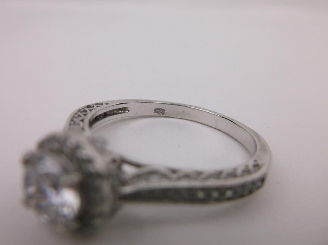 Stunning Sterling Silver Engagement Ring 11 - 4