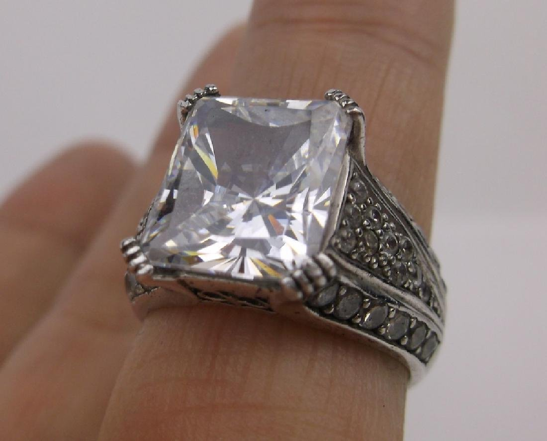 Stunn CC Sterling Silver Engagement Ring 7