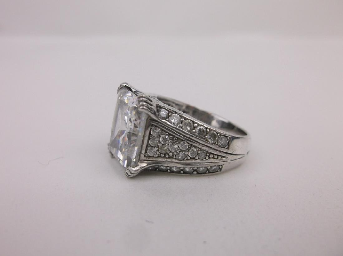 Stunn CC Sterling Silver Engagement Ring 7 - 2