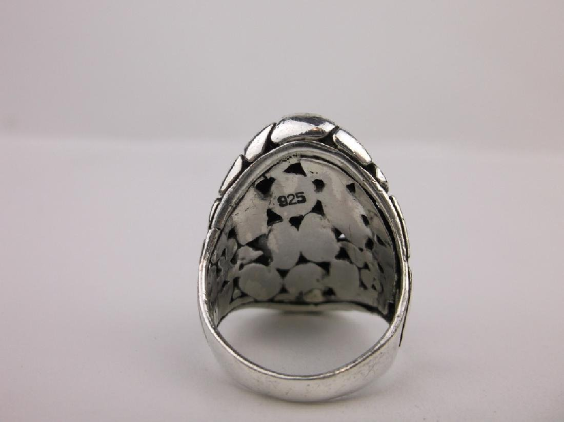 Stunning Sterling Silver Marbled Ring 8.5 - 3