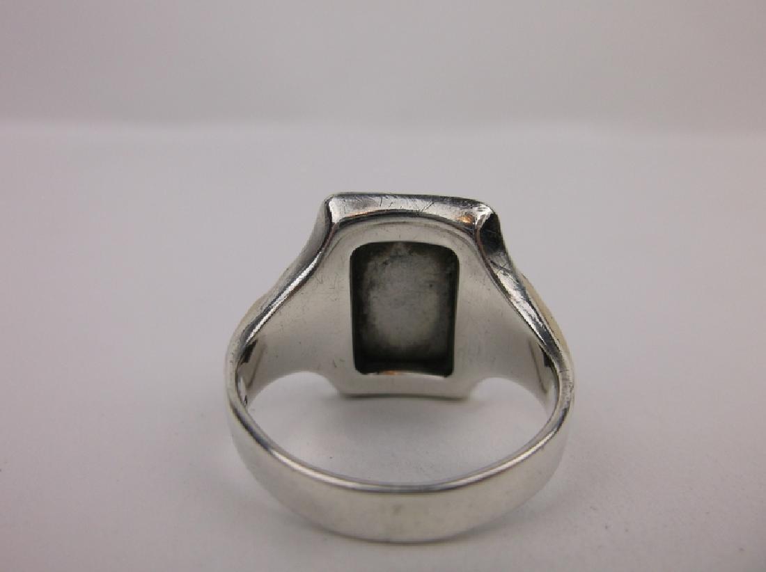 Stunn Antique 10k Sterling Soldier Ring 9.5 - 3