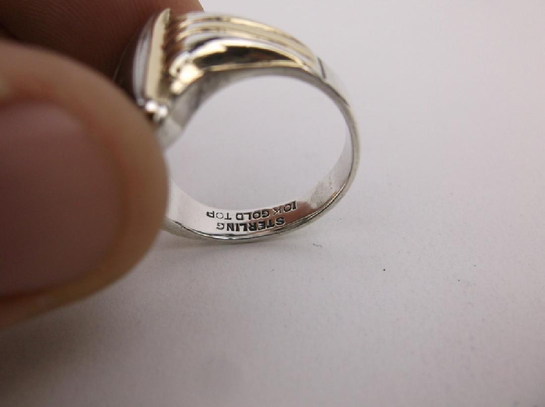 Stunn Antique 10k Sterling Soldier Ring 9.5 - 4