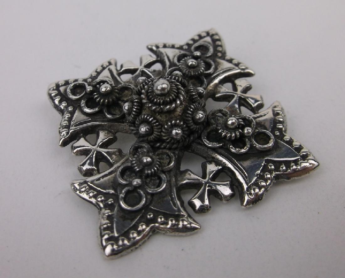 Stunn Antique Jerusalem Sterling Silver Pendant
