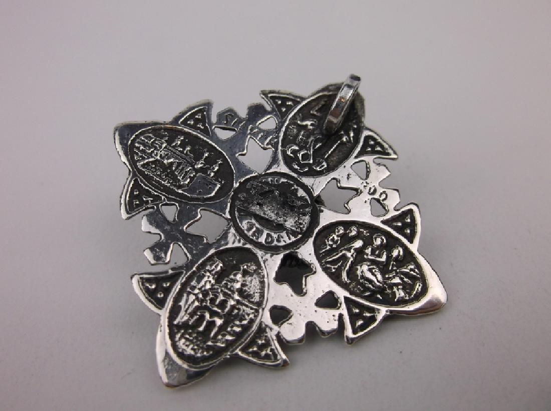 Stunn Antique Jerusalem Sterling Silver Pendant - 2