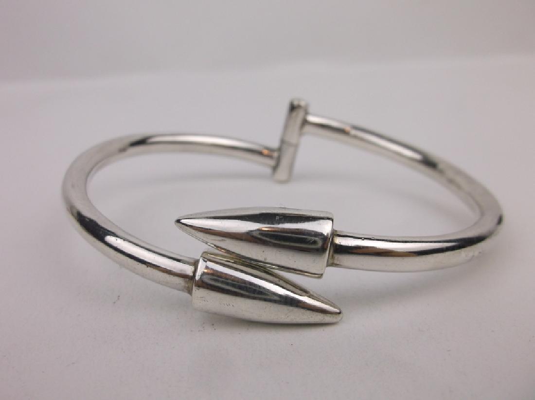 Stunning Large Sterling Silver Spike Bracelet