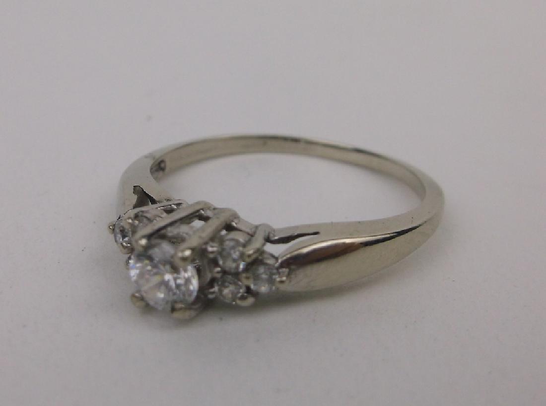 Stunning 10kt White Gold Engagement Ring 6.5