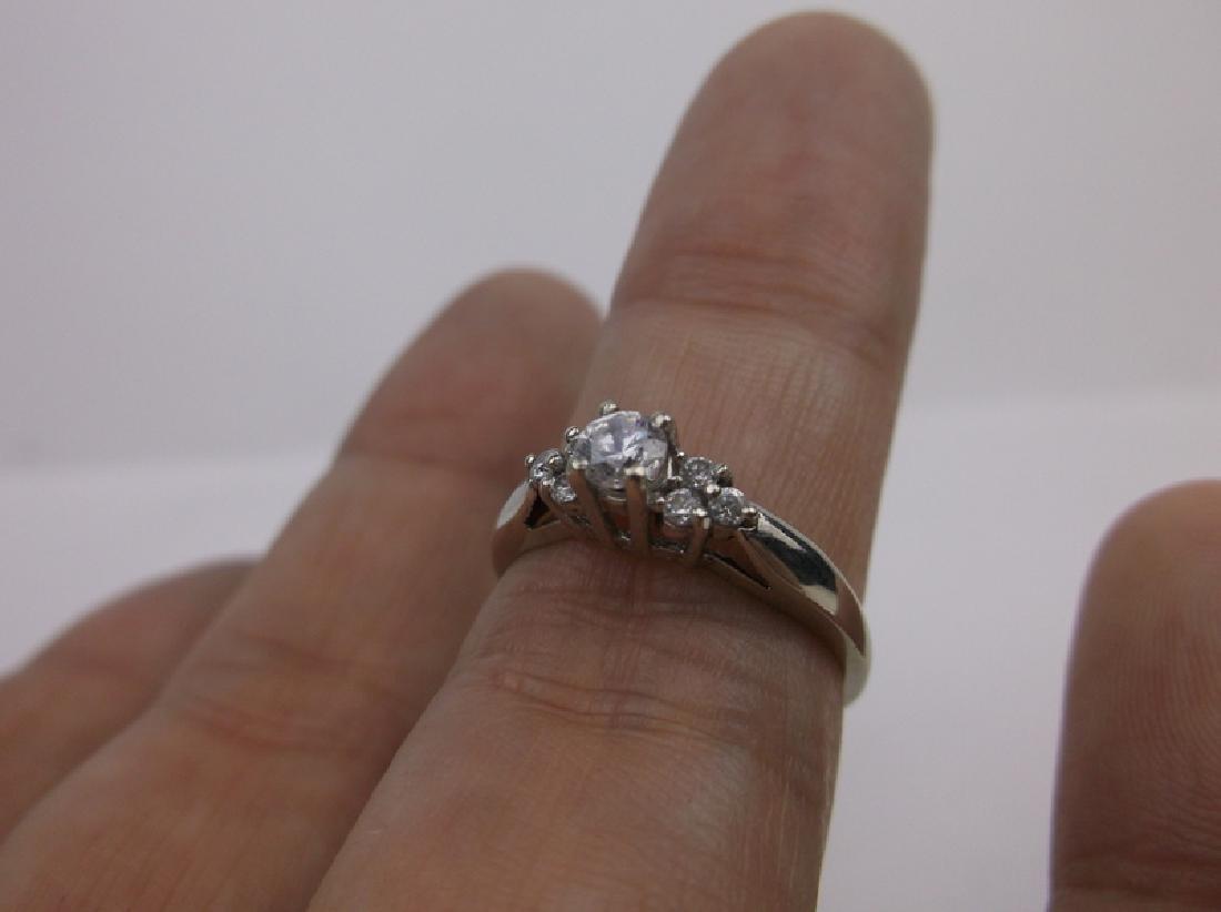 Stunning 10kt White Gold Engagement Ring 6.5 - 2