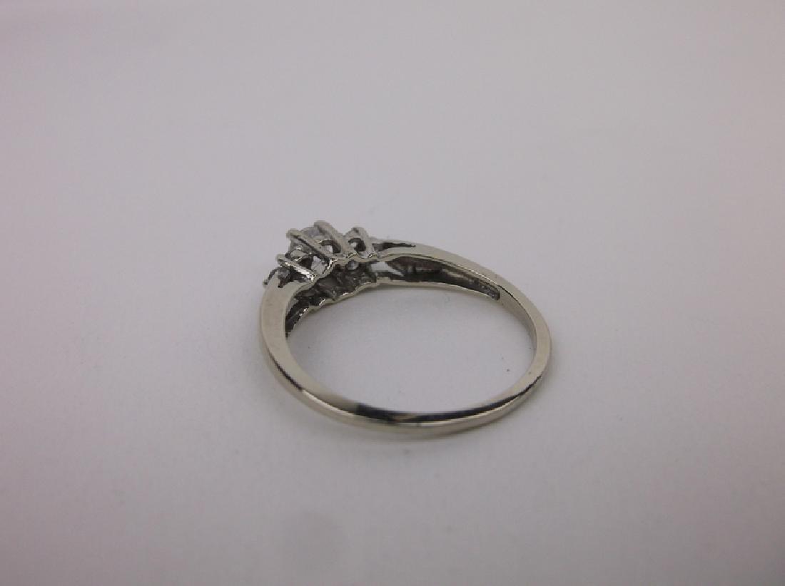 Stunning 10kt White Gold Engagement Ring 6.5 - 3