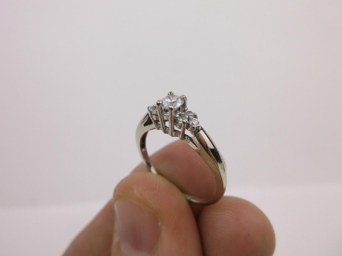 Stunning 10kt White Gold Engagement Ring 6.5 - 5