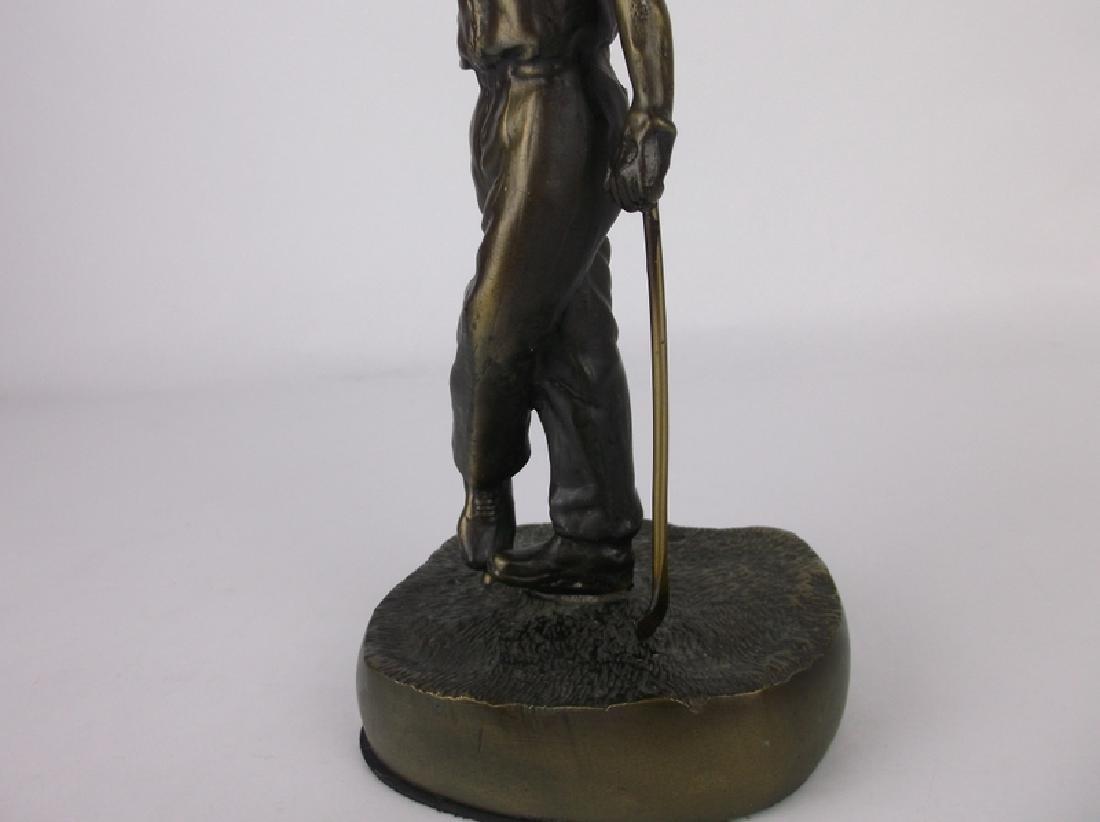 Gorgeous Bronze Golfer Golf Statue 9 Inch - 3