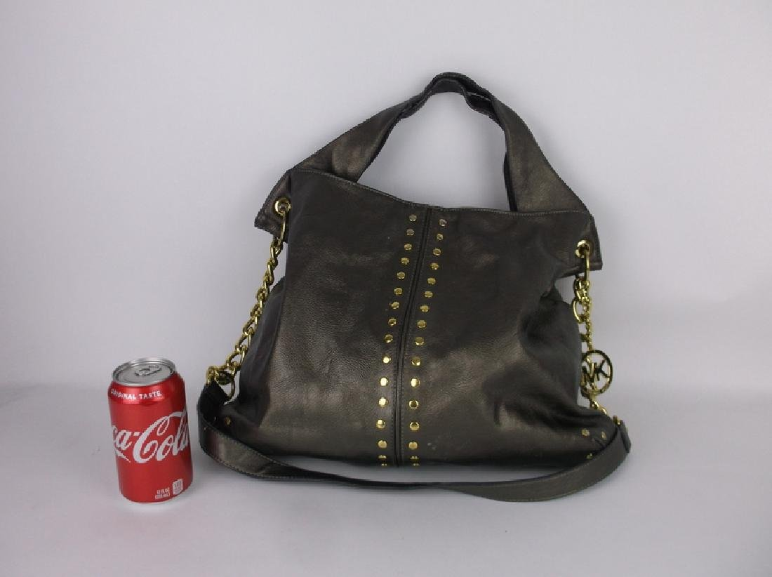 Large Michael Kors Leather Handbag Purse - 3