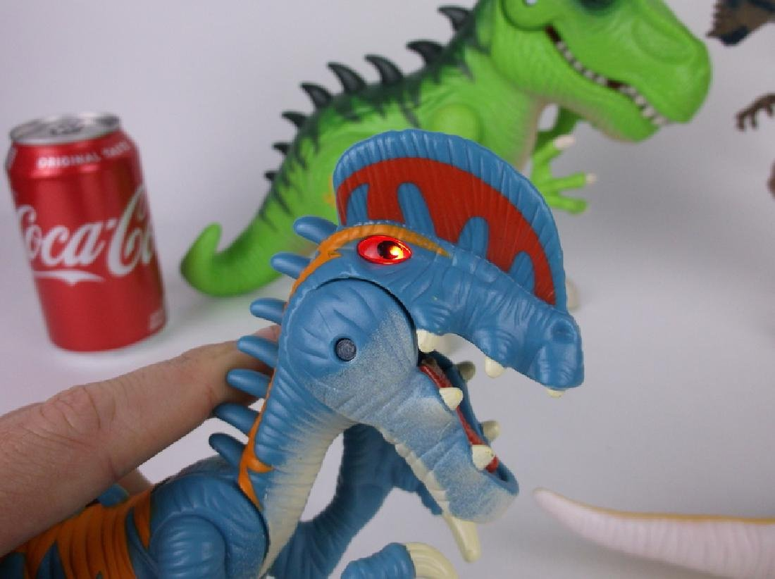 Large Jurassic Park & World Dinosaurs Lot Sounds Lights - 7