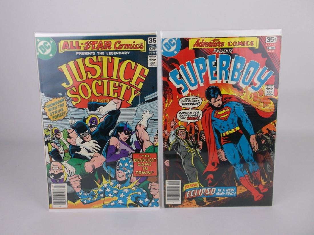 2 Nice 1970s DC Comic Books Super Boy Justice Society