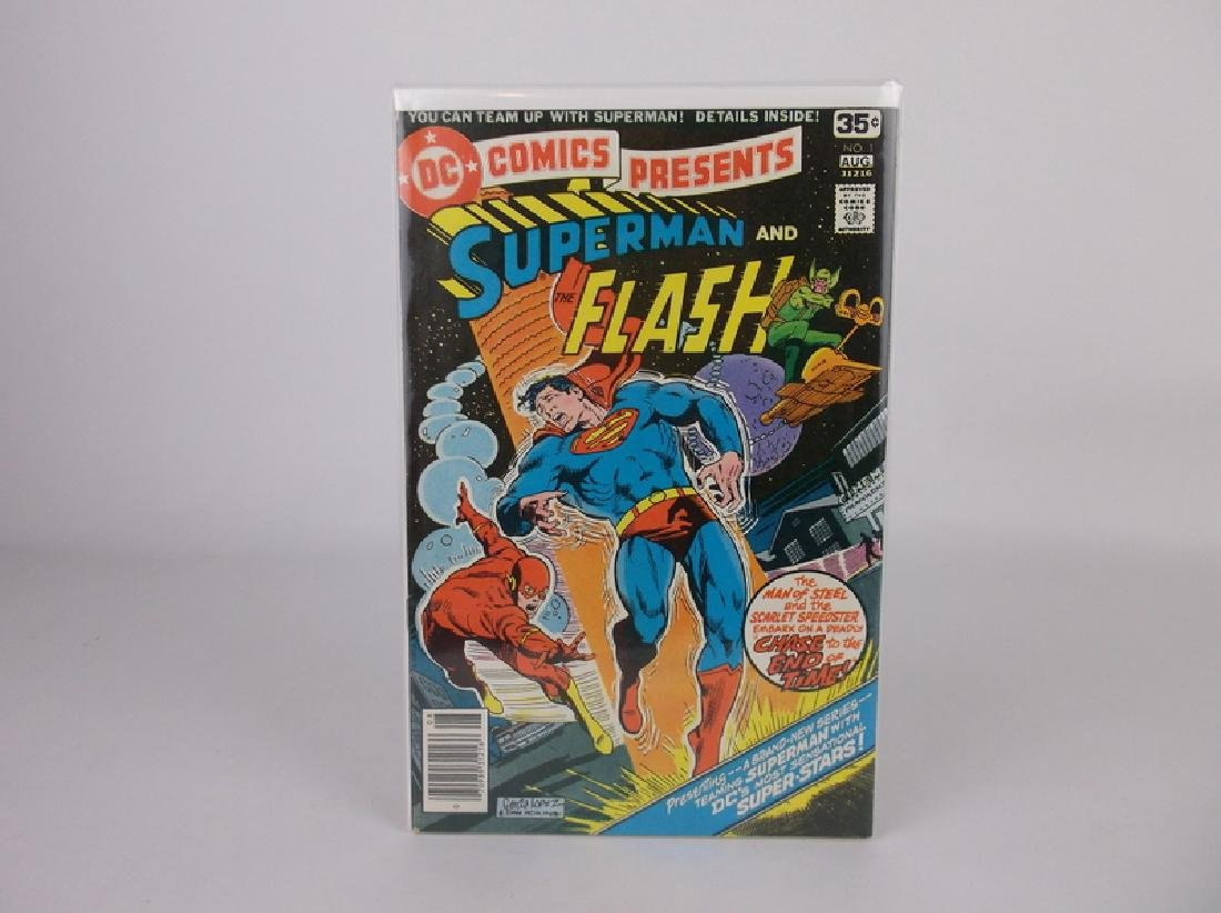 Nice 1978 DC Presents Flash Superman #1 Comic