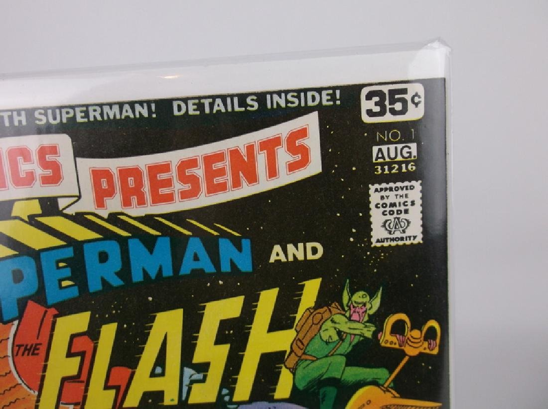 Nice 1978 DC Presents Flash Superman #1 Comic - 2