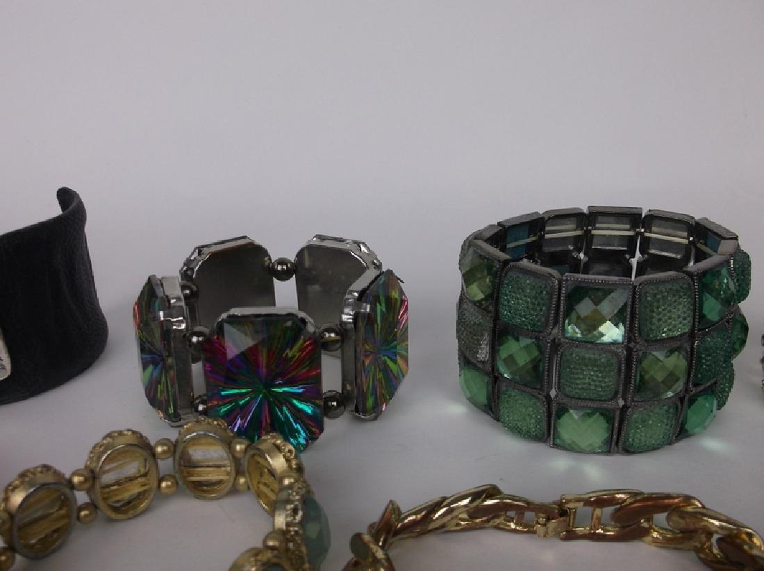 30 Huge Estate Bracelet Lot Lapis Southwest Rhinestone - 8