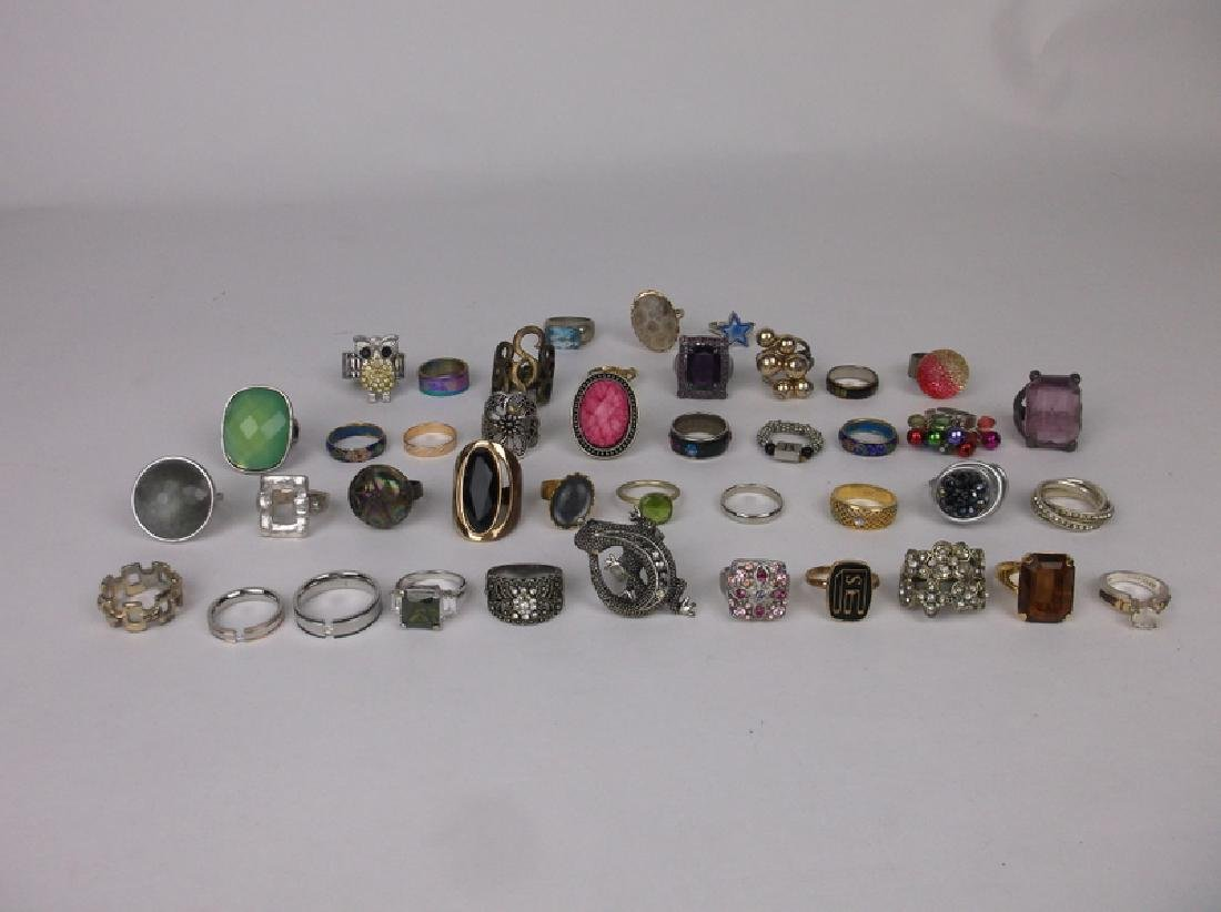 Huge Estate Ring Collection 42 Rings Lot