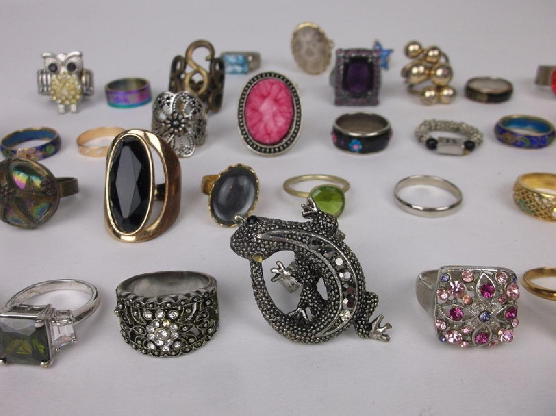 Huge Estate Ring Collection 42 Rings Lot - 3