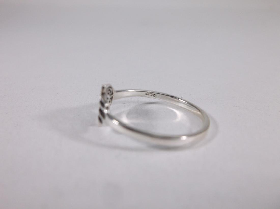 Stunning Sterling Silver Hamsa Hand Ring 7 - 2