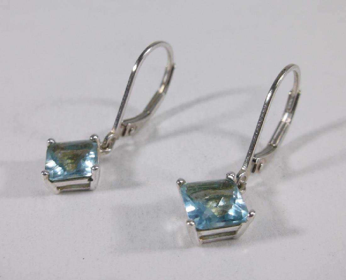 Gorgeous Sterling Silver Aquamarine Earrings