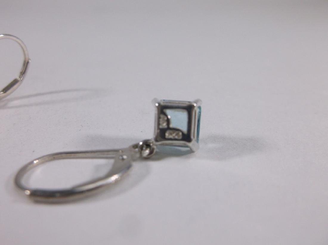 Gorgeous Sterling Silver Aquamarine Earrings - 2