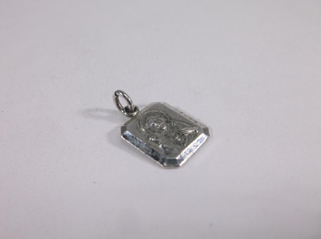 Gorgeous Sterling Silver Catholic Jesus Charm Vint