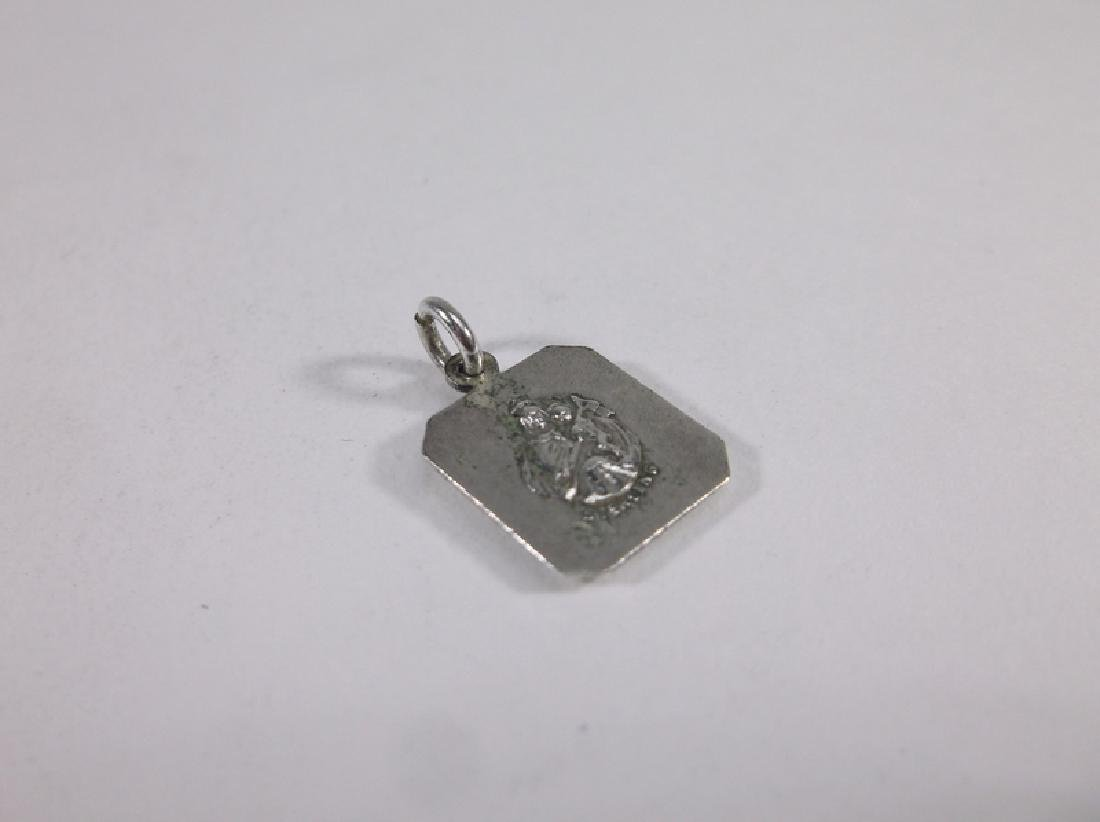 Gorgeous Sterling Silver Catholic Jesus Charm Vint - 2