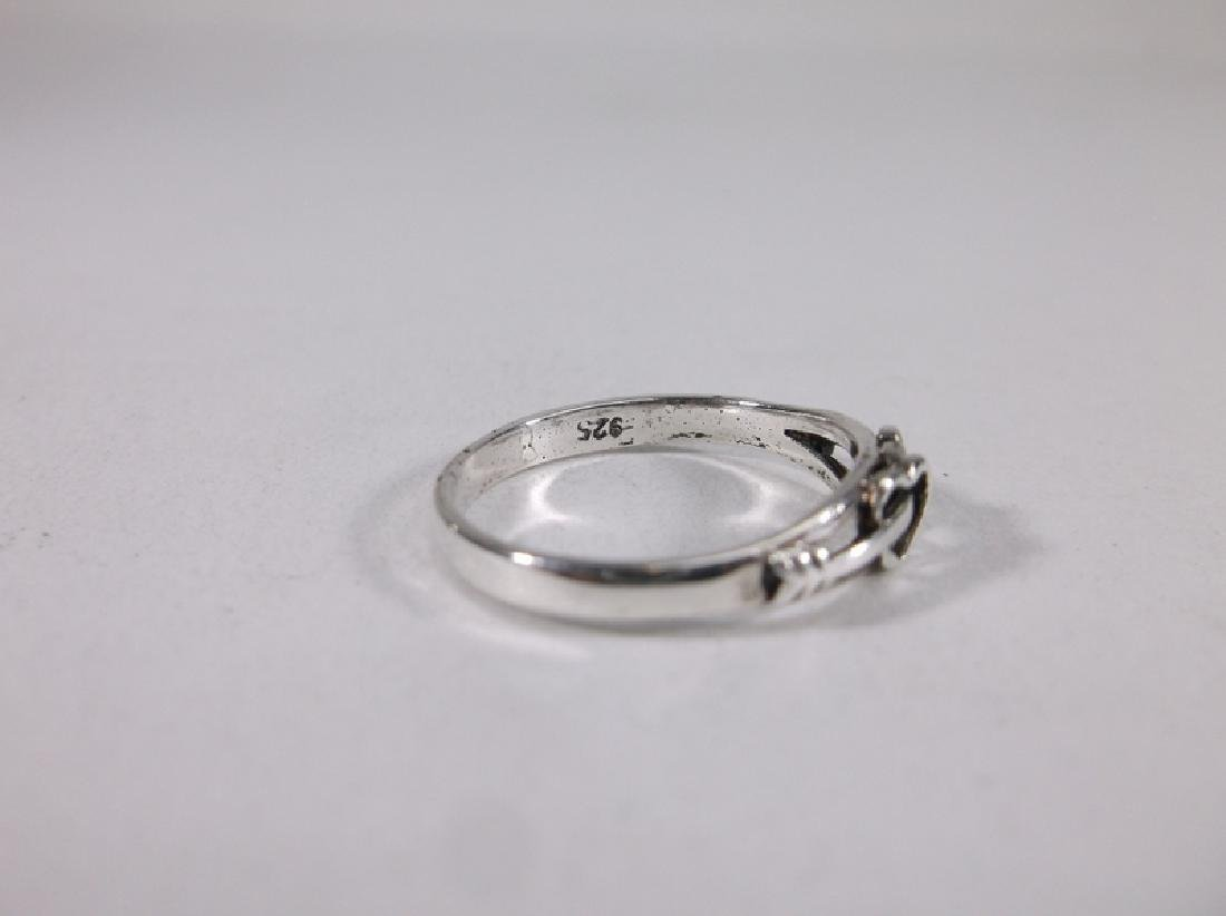 Gorgeous Sterling Silver Hearts Ring 6 - 2