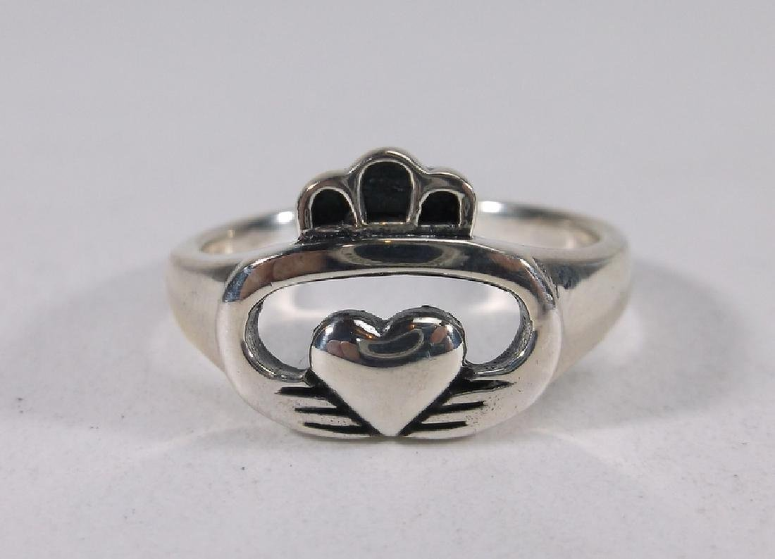 Stunning Sterling Silver Claddagh Ring 7