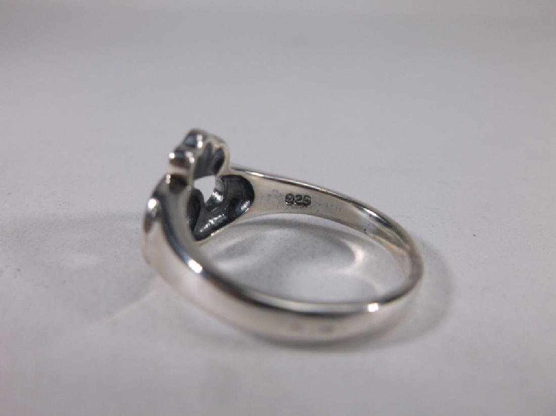 Stunning Sterling Silver Claddagh Ring 7 - 2