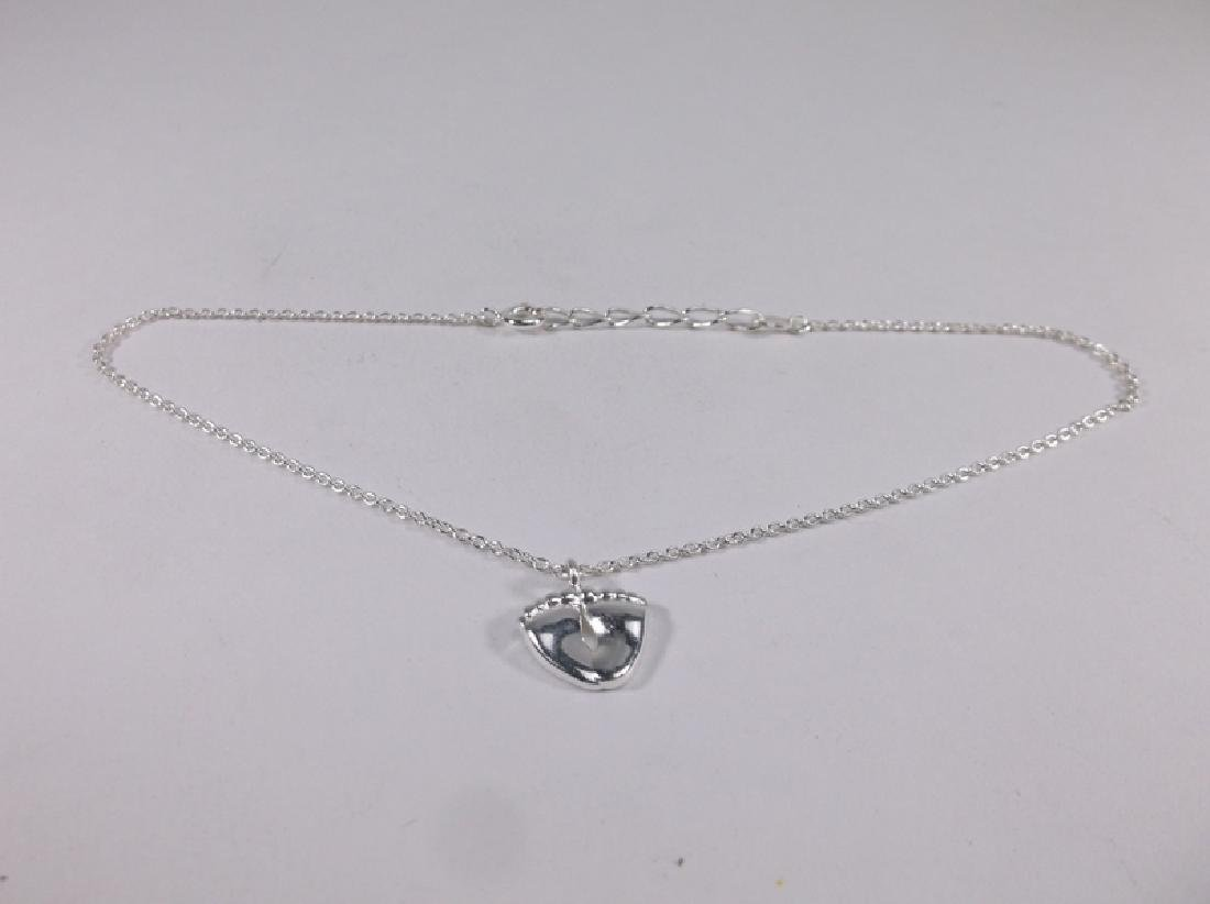 Stunning Sterling Silver Feet Anklet 10 Inch