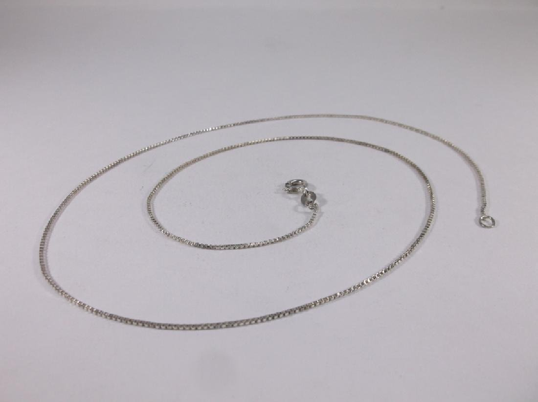"""Gorgeous Sterling Silver Box Chain Necklace 20"""""""