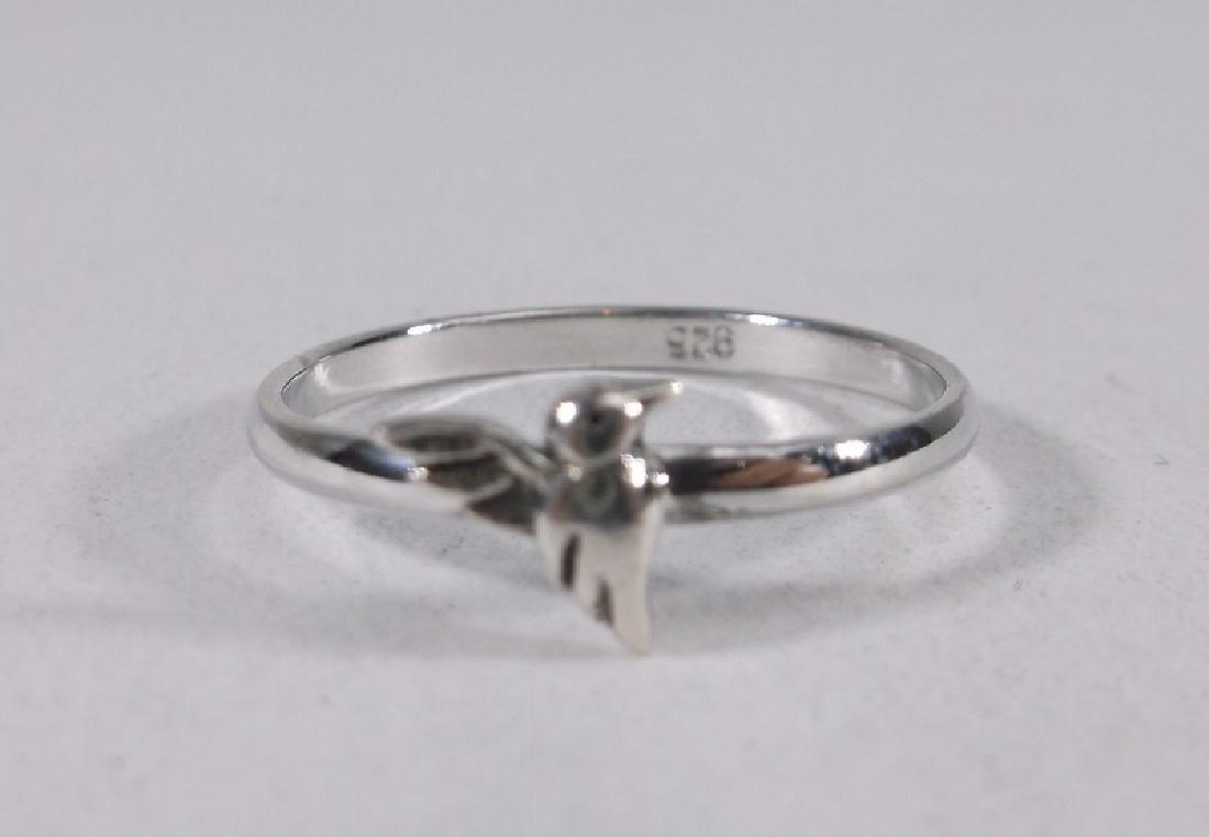 Stunning Sterling Silver Hummingbird Ring 7