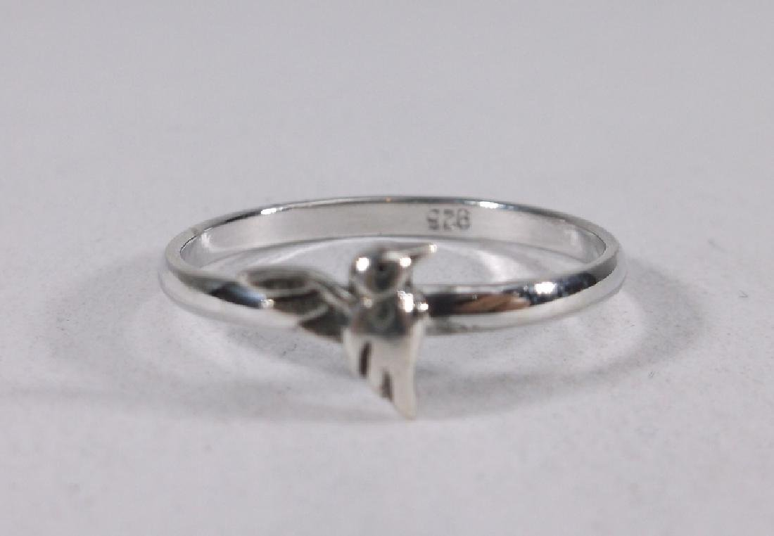 Stunning Sterling Silver Hummingbird Ring 7