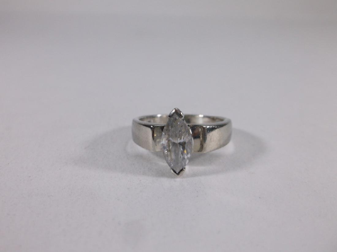 Gorgeous Sterling Silver Engagement Ring 5.75