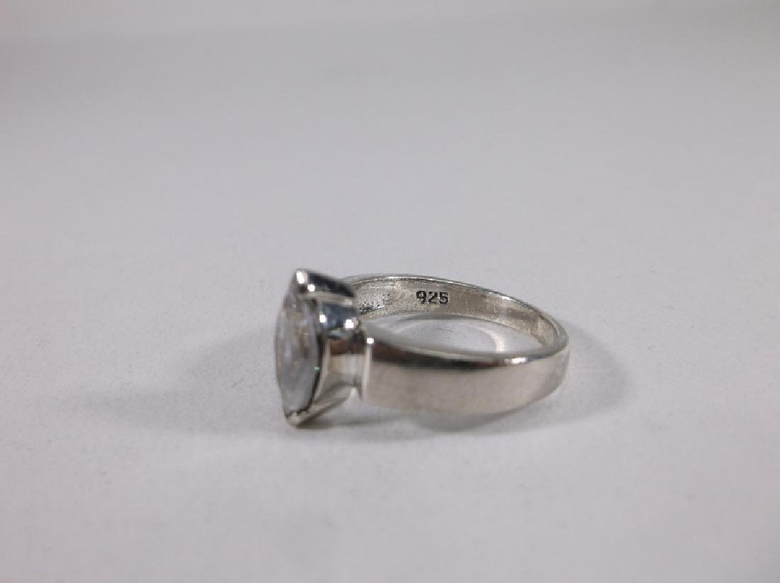Gorgeous Sterling Silver Engagement Ring 5.75 - 2