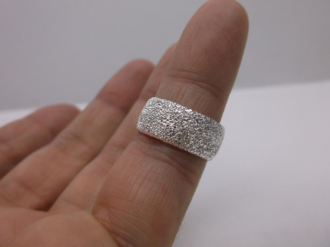 Stunning Sterling Silver Band Ring 6 Wide