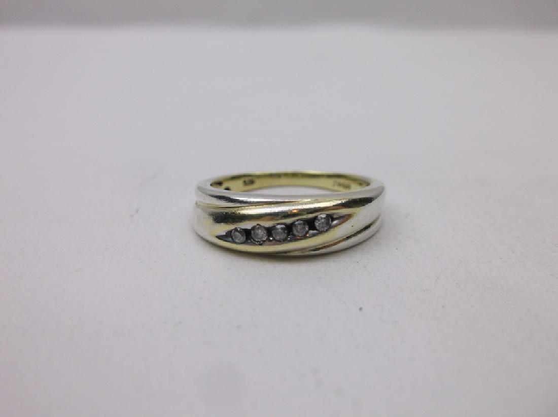 Sterling Silver 5 Genuine Diamond Ring 7